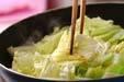 新キャベツの炒め焼きの作り方1