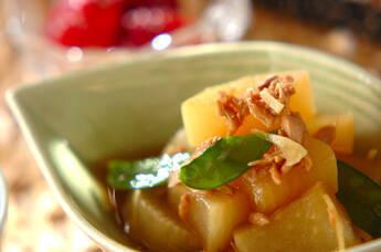 大根とツナの煮物