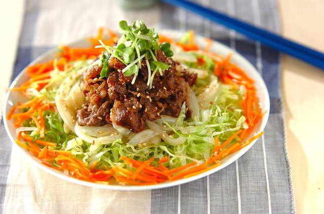 4. 牛肉のセサミソテー