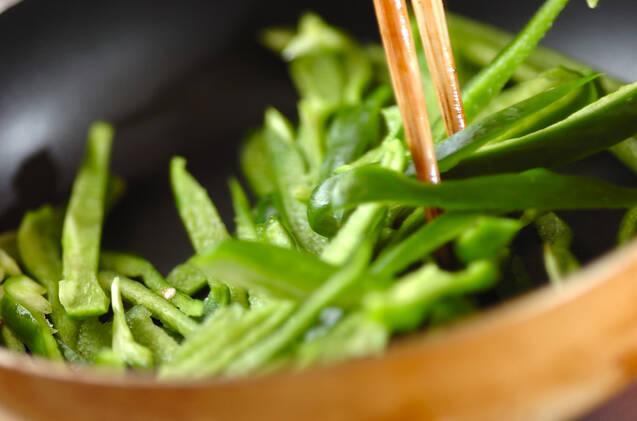 簡単副菜!ピーマンの塩昆布炒めの作り方の手順2