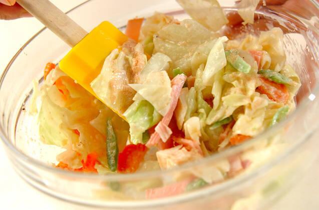 キャベツの明太子マヨサラダの作り方の手順7