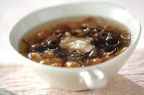 ナメコともずくのスープ