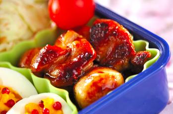 里芋と鶏肉の照り焼き