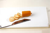 トマト&チーズカナッペの下準備1