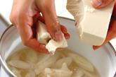 くずし豆腐ともずくのスープの作り方2