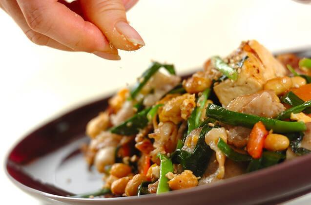 豚肉入り健脳炒り豆腐の作り方の手順9