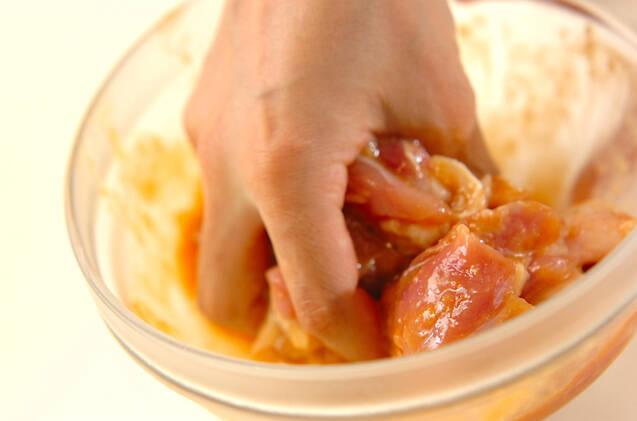 エリンギと鶏肉のみそ炒めの作り方の手順1