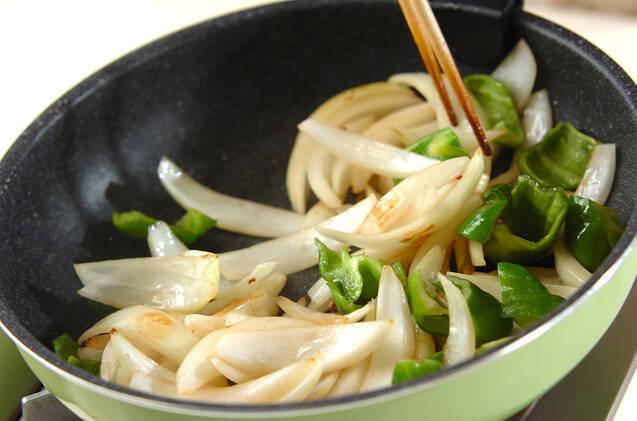 牛肉のソース炒めの作り方の手順5