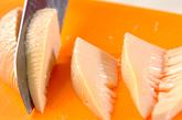 水煮タケノコの天ぷらの下準備1