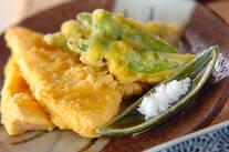 水煮タケノコの天ぷら