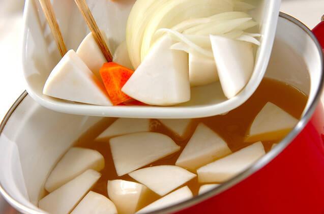 小カブのみそ汁の作り方の手順4