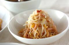 モヤシとハムのゴマ酢サラダ