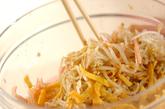 モヤシとハムのゴマ酢サラダの作り方3