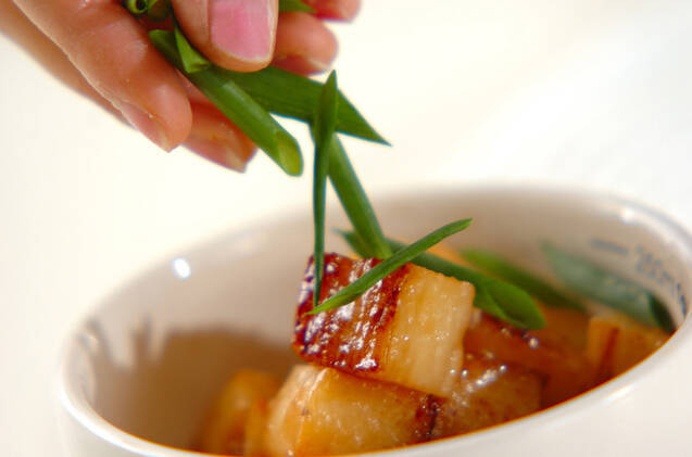 長芋のバターしょうゆ炒めの作り方の手順5