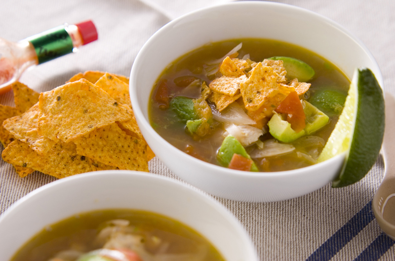 アボカドとトマトのスープ