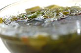 海藻とスプラウトのサラダの下準備1