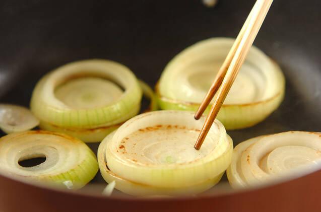 玉ネギすき焼きの作り方の手順3