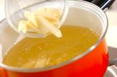 ジャガイモとキノコのみそ汁の作り方1