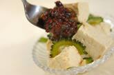 ゴーヤと豆腐の肉みそ添えの作り方6