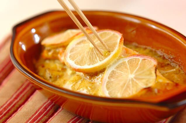 鮭のレモンカレークリーム焼きの作り方の手順8