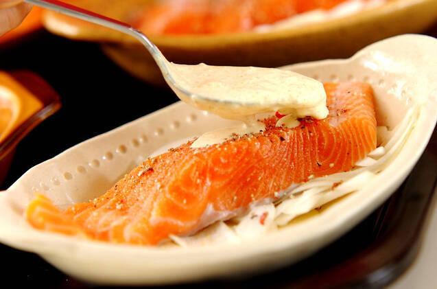 鮭のレモンカレークリーム焼きの作り方の手順7