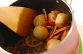 里芋とレンコンの梅肉和えの作り方3