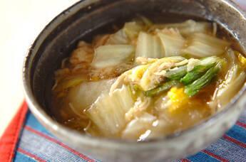 優しい味!白菜のホタテ煮