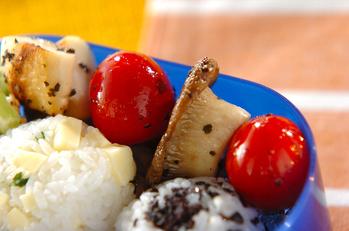 エリンギとトマトのバジルソテー