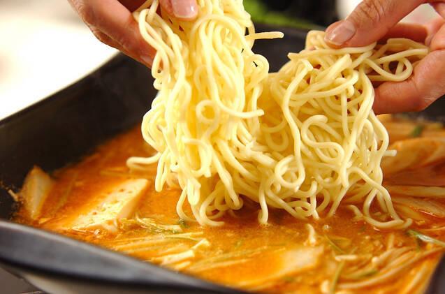 鶏鍋~ゴマ鍋~担々麺風そばの作り方の手順9