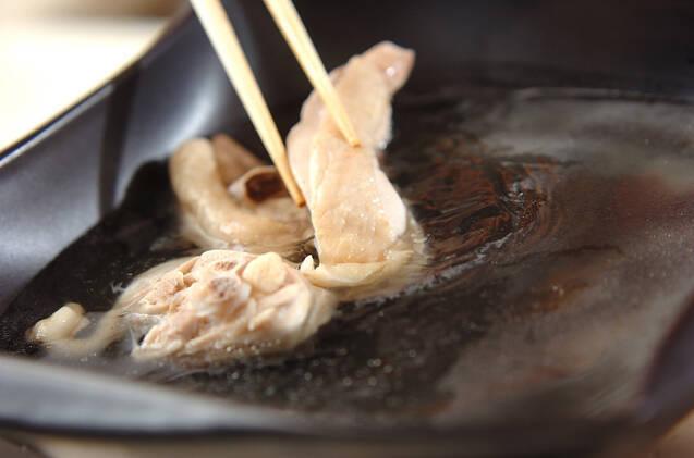 鶏鍋~ゴマ鍋~担々麺風そばの作り方の手順5
