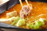 鶏鍋~ゴマ鍋~担々麺風そばの作り方8