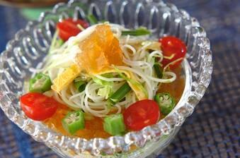 キラキラ素麺