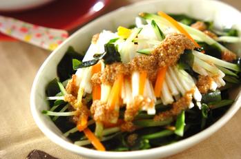 長芋のせん切りサラダ