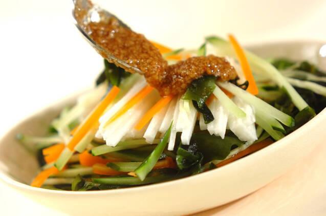 長芋のせん切りサラダの作り方の手順6