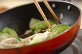インスタントラーメンで天津麺の作り方1