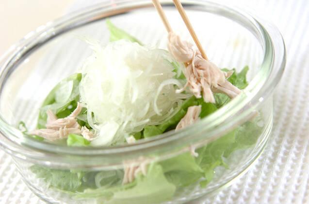 ささ身とレタスのサラダの作り方の手順2