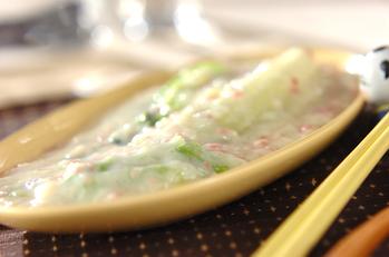 白菜とチンゲンサイの中華クリーム煮