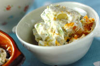 アボカドとカボチャのヨーグルトサラダ