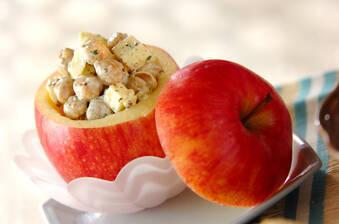 リンゴのカップサラダ