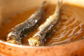 揚げ焼きメザシの作り方1