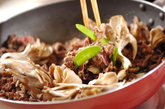 牛肉のマスタード炒めの作り方1
