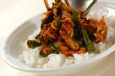 豚肉と白菜キムチの炒め丼の作り方2