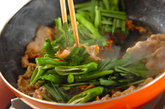 豚肉と白菜キムチの炒め丼の作り方1