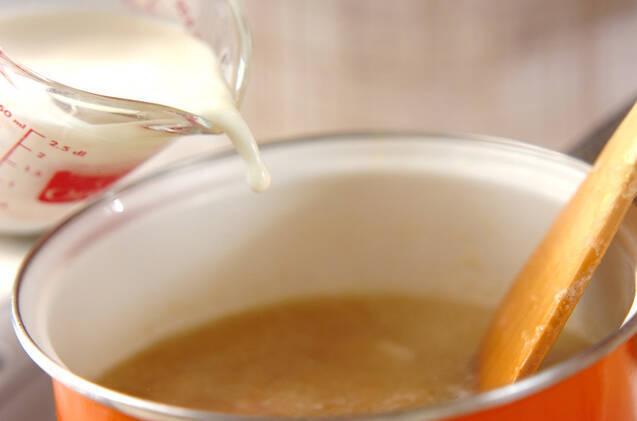 おろし玉ネギのスープの作り方の手順4