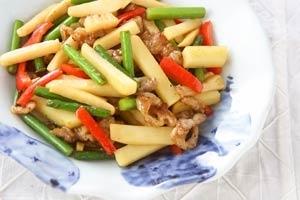 ジャガイモの中華炒め