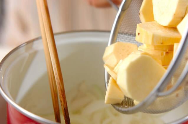 サツマイモの豆乳ポタージュの作り方の手順4