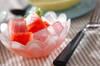 スイカとアロエのデザート