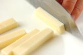 チーズ入りちくわの天ぷらの下準備1