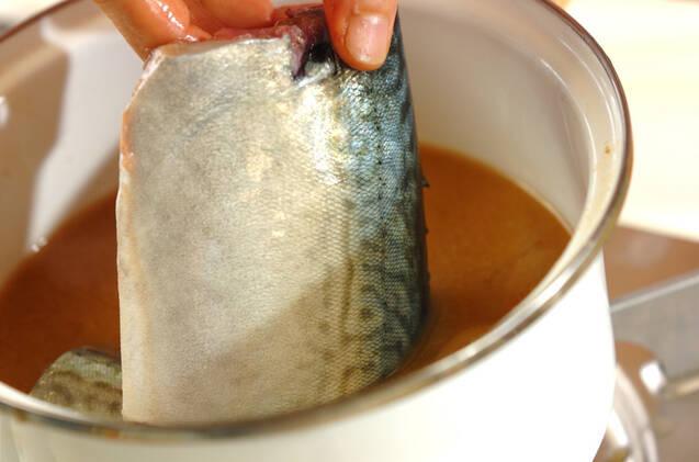 サバと九条ネギのみそ煮の作り方の手順5