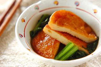 さつま揚げと小松菜の煮物